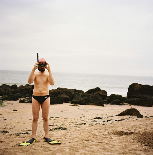b alone on a beach