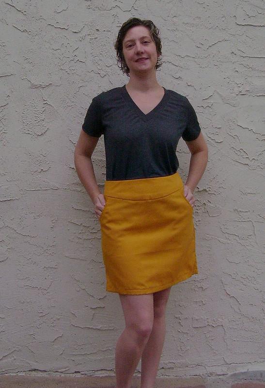 S2541 Golderod Skirt w/ Union St Tee