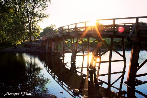 old bridge sunset reflection water weather wooden nationalpark massachusetts historic concord weatherphotography
