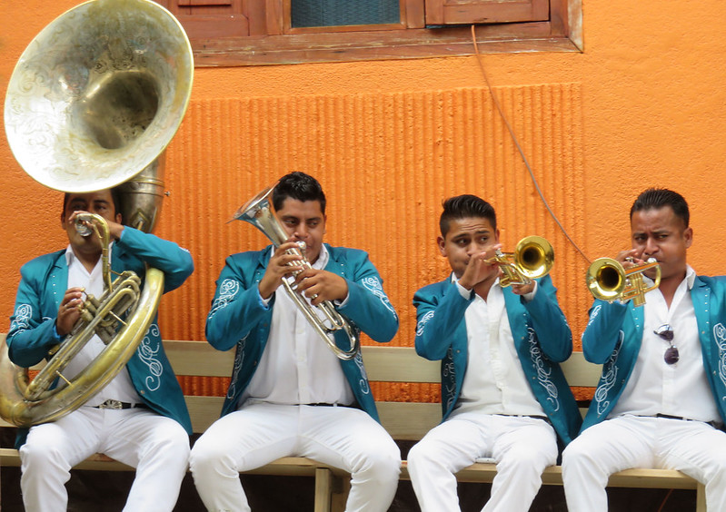 Musicians in traditional Mexican Weddings