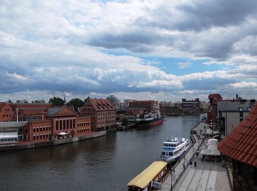 panorama river view poland polska gdańsk motława