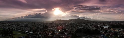 Panorámica de los volcanes.