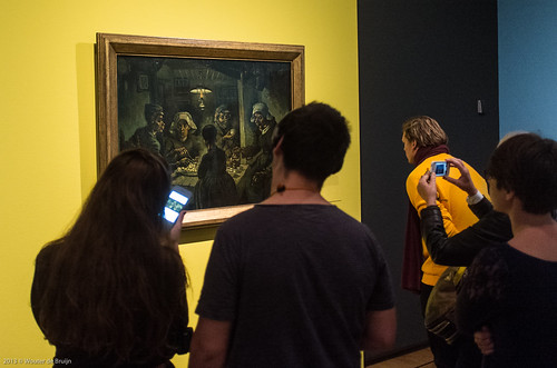Admiring The Potato Eaters by Vincent van Gogh