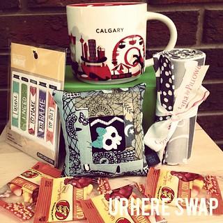 #urhere swap gift ready to ship! hope you like the treats! #starbucks #tulapink #nightshade