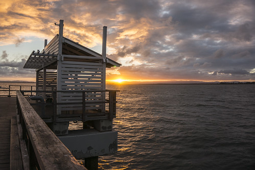 sunset clouds pier redcliffe cloudsstormssunsetssunrises