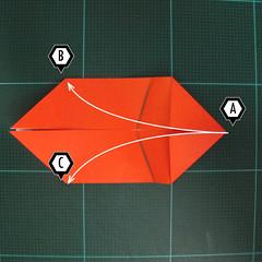 การพับกระดาษเป็นรูปปลาทอง (Origami Goldfish) 004