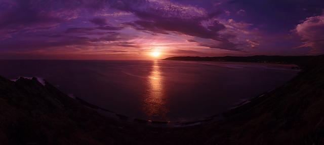 Widescreen Purple Sunset - 4k HiRes Pano - DSC05950+ edit-2 (3840-wide)