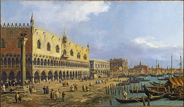 Canaletto - The doges palace and Riva degli Schiavoni [1731]
