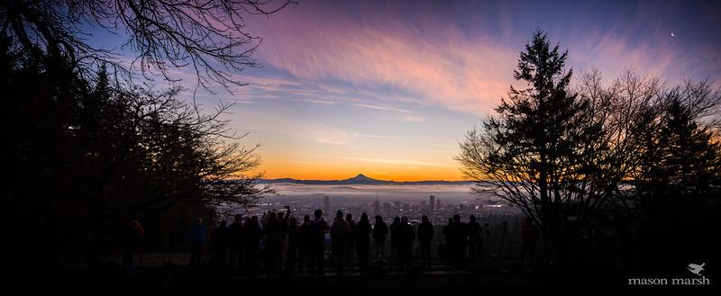 Pittock Sunrise Crowd