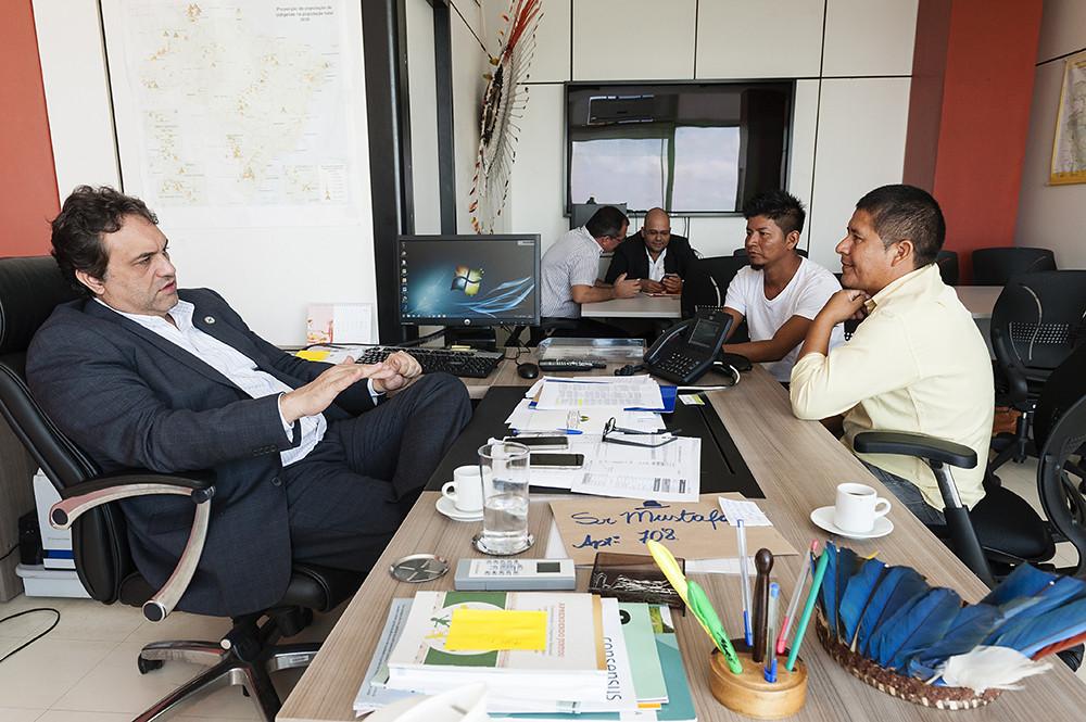 Secretário Rodrigo Rodrigues recebe Lideranças Indígenas da Etnia Tenharim do Amazonas