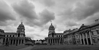 Naval College - monochrome with clouds DSC_6852 | by Plashing Vole