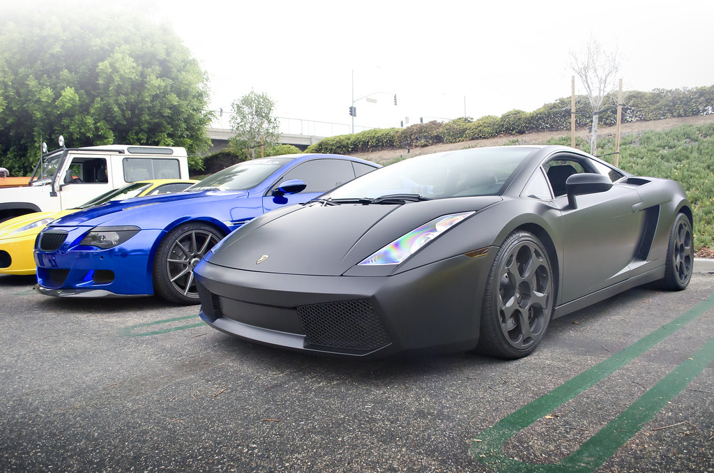 Matte Black Lamborghini Gallardo And Blue Chrome Wrapped B Flickr
