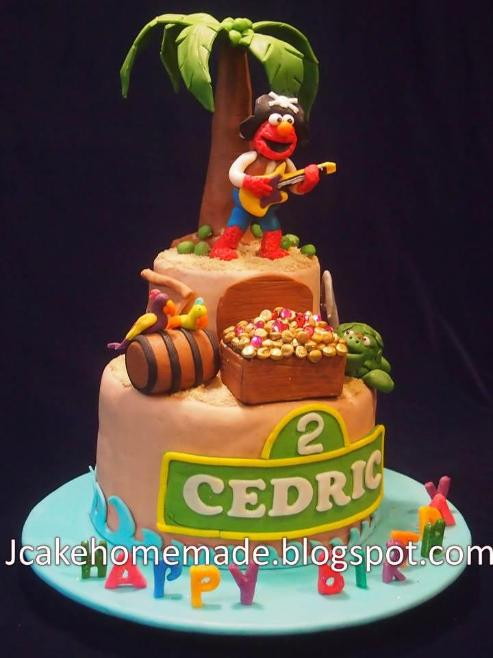 Pleasant Elmo Pirate Birthday Cake Happy 2Nd Birthday Cedric Thank Flickr Birthday Cards Printable Inklcafe Filternl