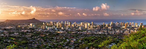 morning skyline sunrise hawaii oahu diamondhead honolulu nikon2470mm nikond800