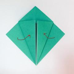 สอนวิธีการพับกระดาษเป็นรูปปลาฉลาม (Origami Shark) 007