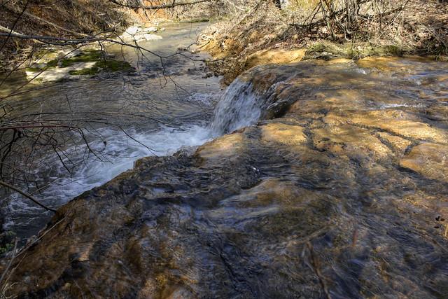 Overflow channel, unnamed impoundment, East Blackburn Fork creek, Putnam County, Tennessee