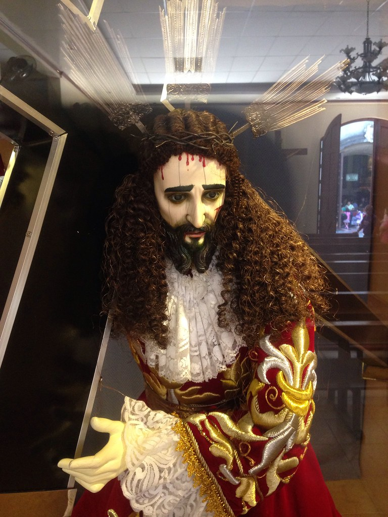 Nazarene in Manaoag with ivory head.