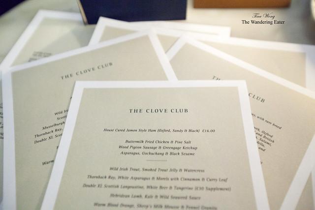 Many menus to look at