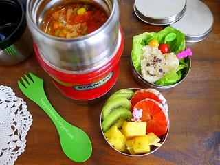 Chili and Heart Rice Bento | by sherimiya ♥