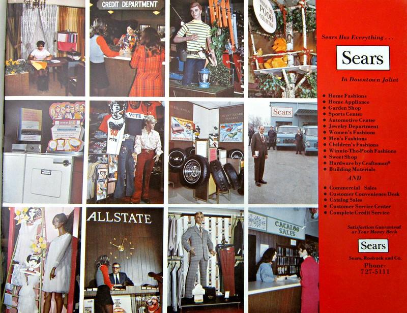 1972 Sears advertisement, Joliet, IL