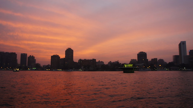 A Cairo sunset in the Nile