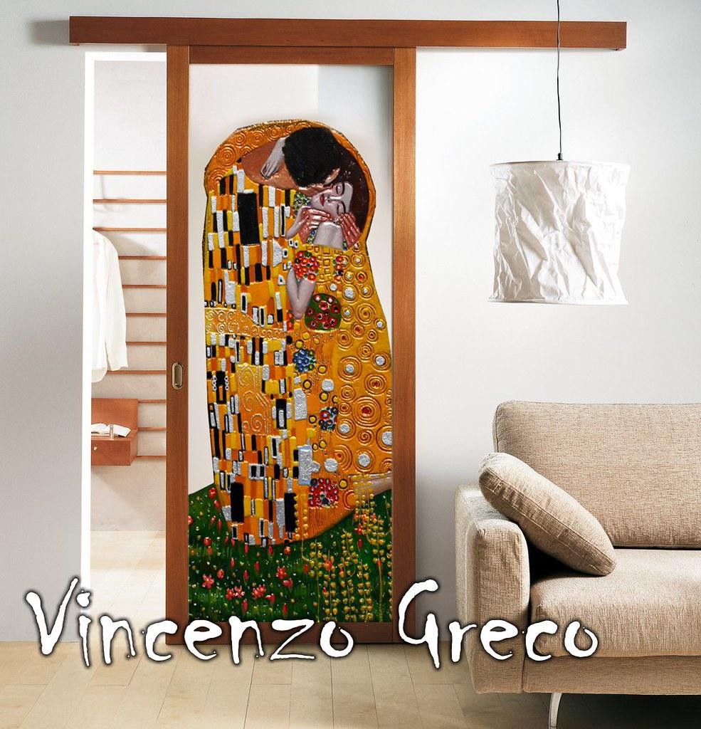 Porte Per Interni Mosaico Vetro Artistiche Bacio Di Klimt