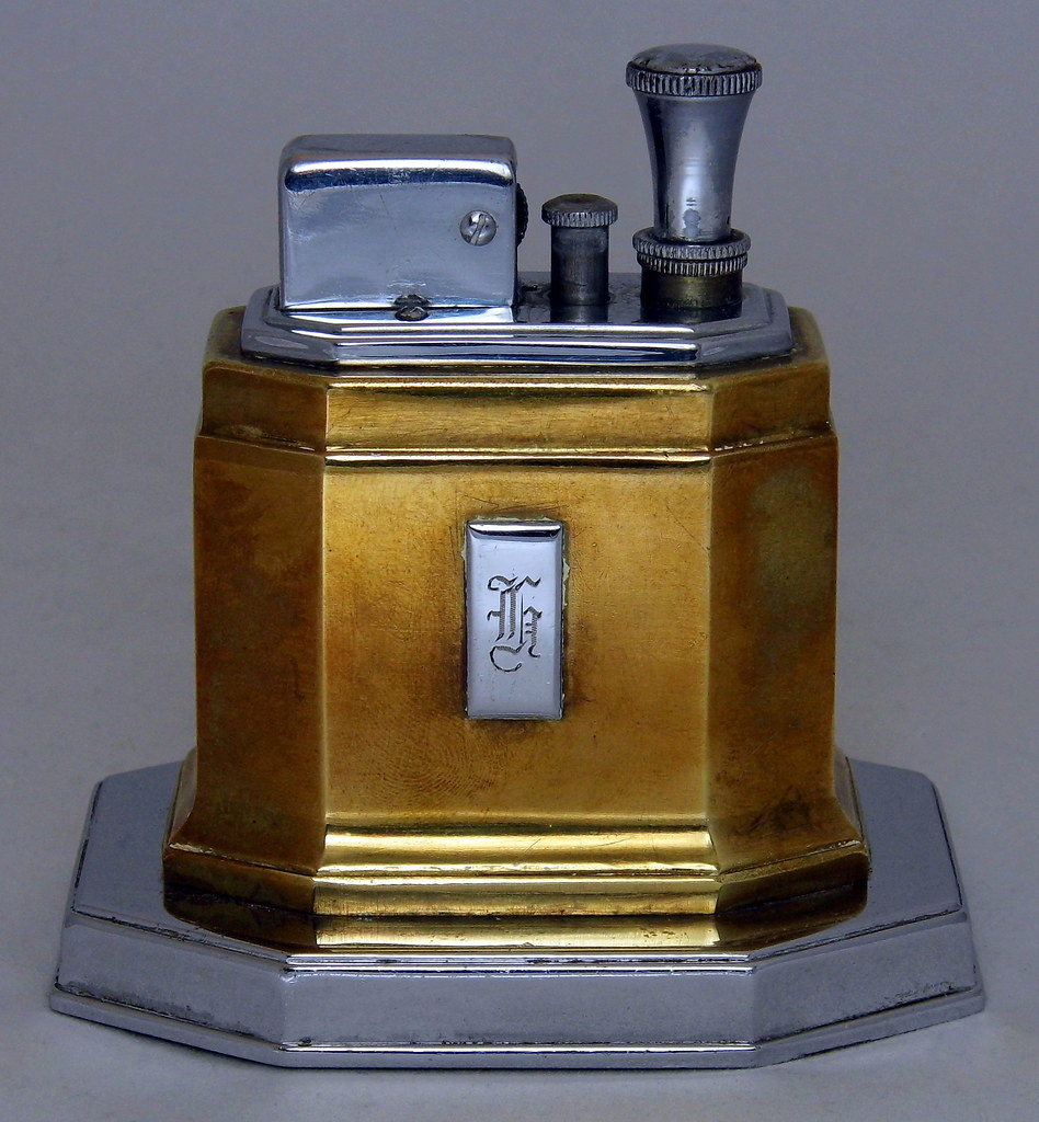Cool Vintage Ronson Touch Tip Art Deco Table Cigarette Lighter Interior Design Ideas Gentotryabchikinfo