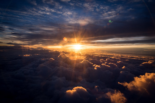 above blue summer orange sun sunlight yellow clouds plane sunrise airplane dawn us flying rainbow unitedstates charlotte flight northcarolina delta rays sunrays cloudcover clt