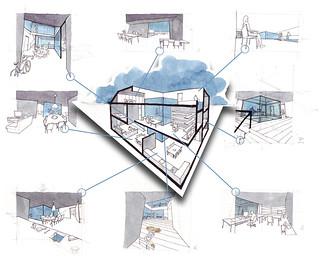 Croquis para una propuesta de vivienda | by ALVARO CARNICERO