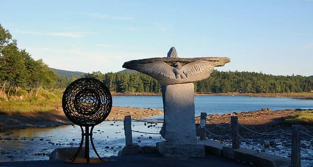 Outdoor Sculpture at Somes Sound, Mt. Desert Island, Maine