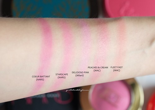 Pink blushes swatches2 | by <Nikki P.>