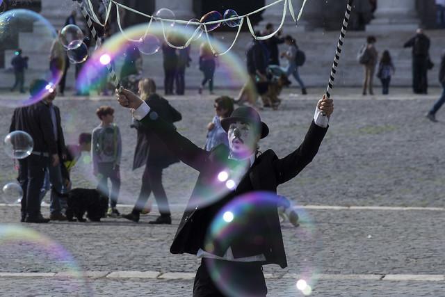 Artista di strada - soap bubbles