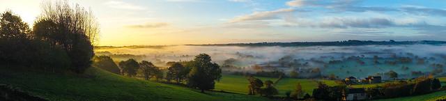 Lower Cumberworth Valley in the mist