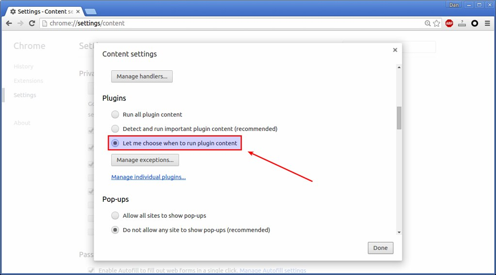 Flash Plugin in Google Chrome | How to disable Flash plugin