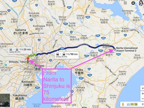 map-narita-to-shinjuku-tokyo | by crystalfaith_golfer