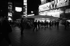 Shibuya station b/w