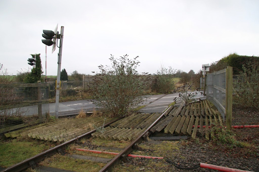 Fosseway Level Crossing And Signal Box On The Abandoned