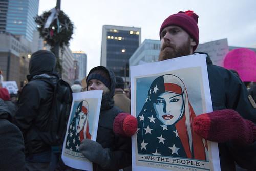 Protest against Donald Trump's Muslim ban | by Fibonacci Blue