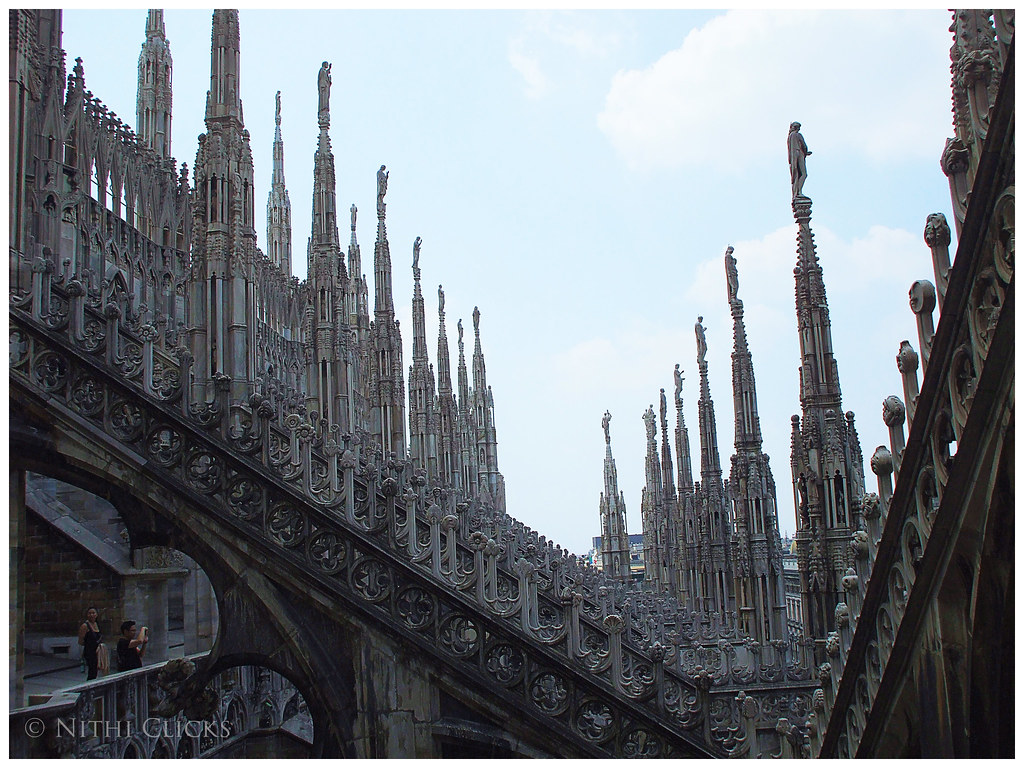 View Of Architectural Detail Of Duomo Di Milano Roofs Flickr
