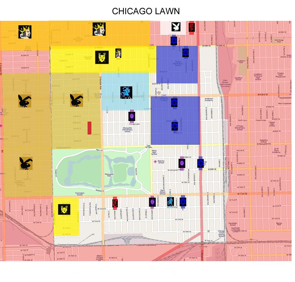 Chicago Lawn Gang Map | slide100100 | Flickr