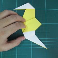 วิธีการพับกระดาษรูปม้าน้ำ (Origami Seahorse) 028