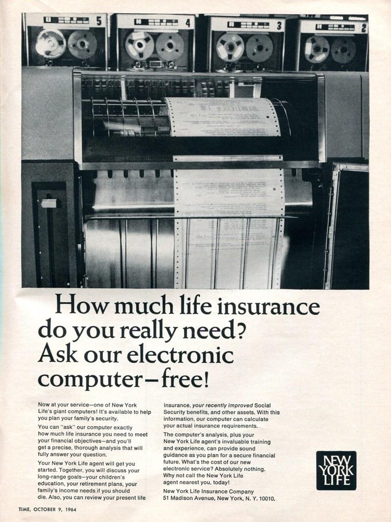 1964 New York Life Insurance Advertisement Time Magazine October_9 1964