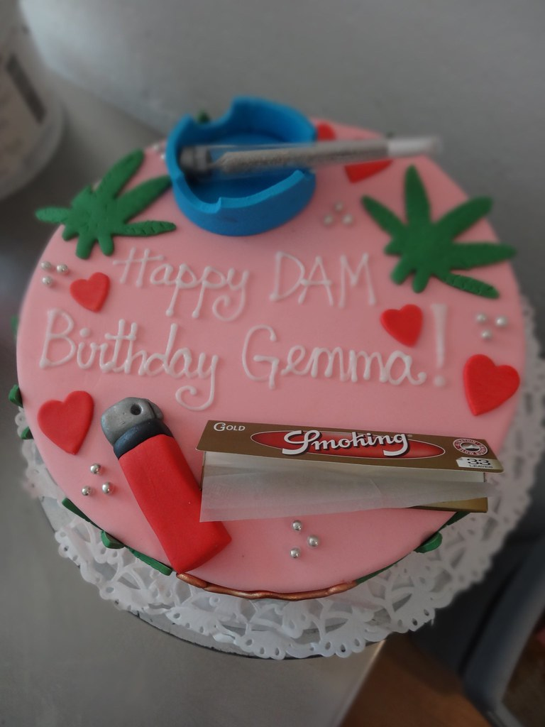Marvelous Amsterdam Cannabis Themed Birthday Cake Cakeamsterdam Flickr Personalised Birthday Cards Epsylily Jamesorg