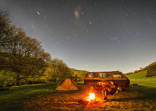 longexposure nightphotography volkswagen t3 hdr campervan t25 550d