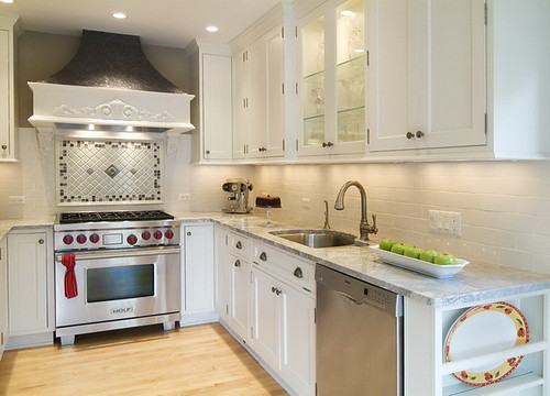 Small Kitchen with White Cabinets | by awans