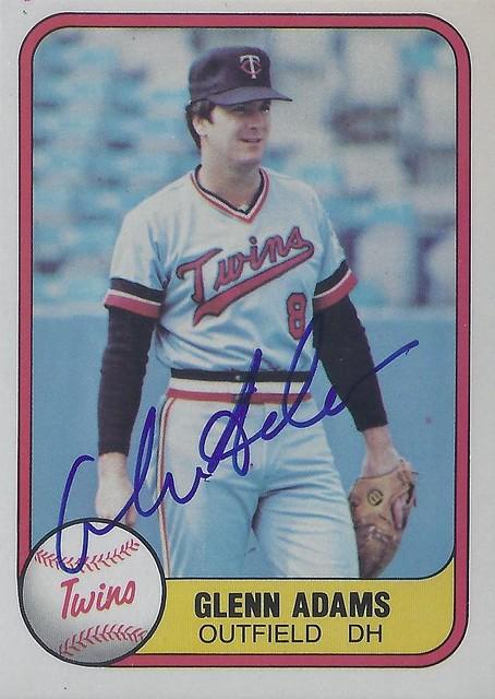 1981 Fleer Glenn Adams 562 Outfielder Designated Hit Flickr