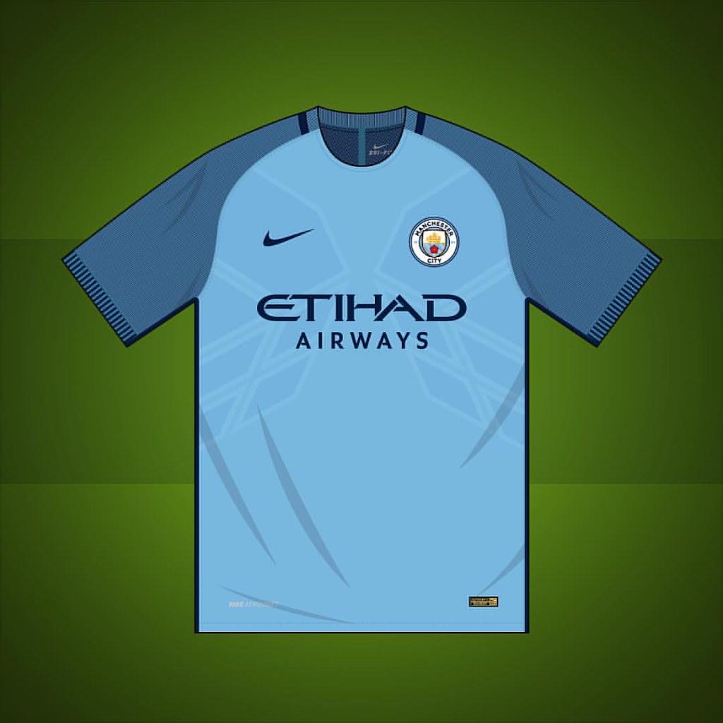 on sale 415d3 7583e Manchester City home shirt 2016/2017 #manchestercity #manc ...