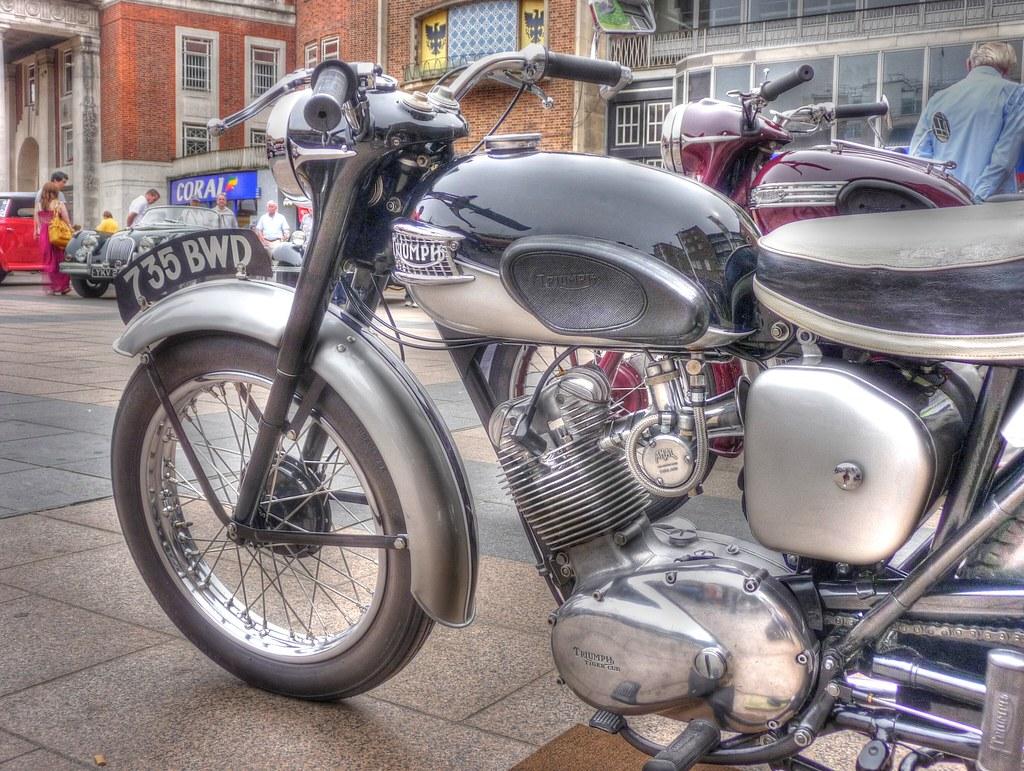 Triumph Motorbike_Broadgate_Coventry_Jul13