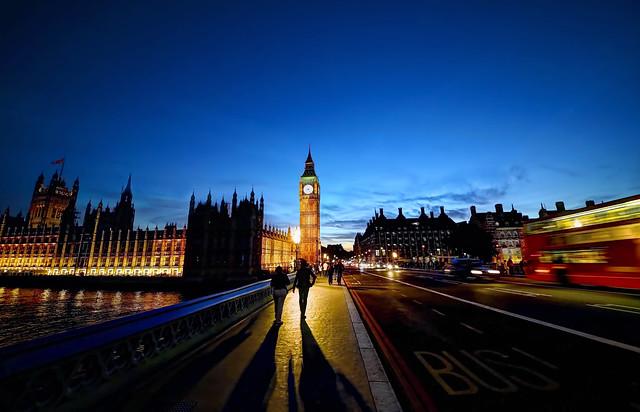 Westminster Bridge in the Evening