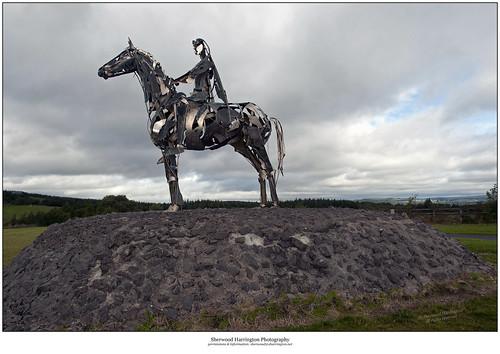 ireland sculpture boyle roscommon mauriceharron gaelicchieftain battleofcurlewpass